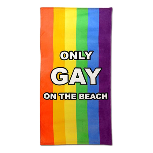 Only Gay On The Beach Badhandduk thumbnail