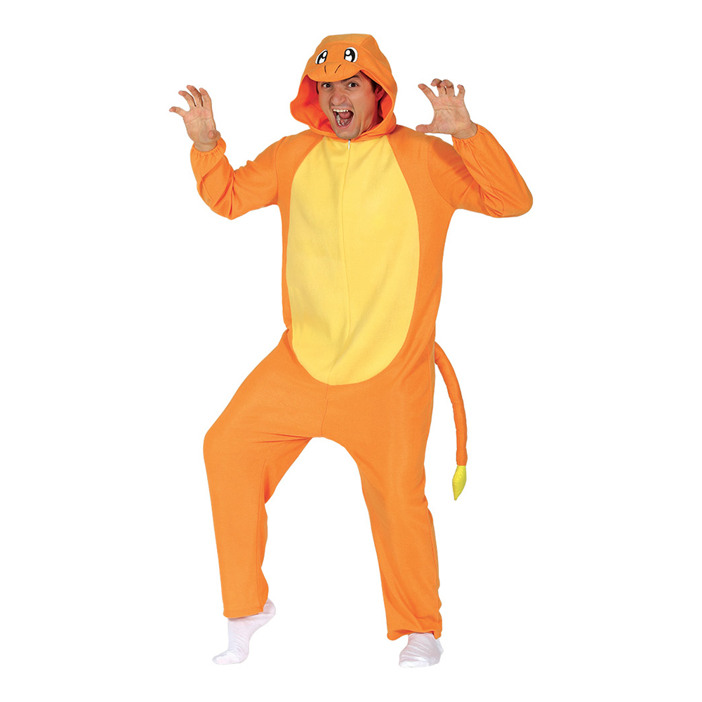 Orange Drake Maskeraddräkt - One size