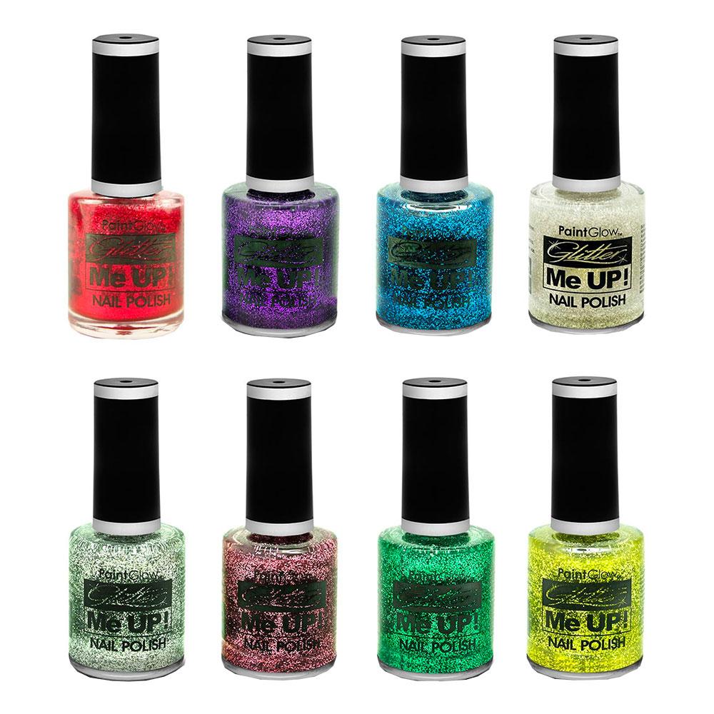PaintGlow Glitter Nagellack - Rosa