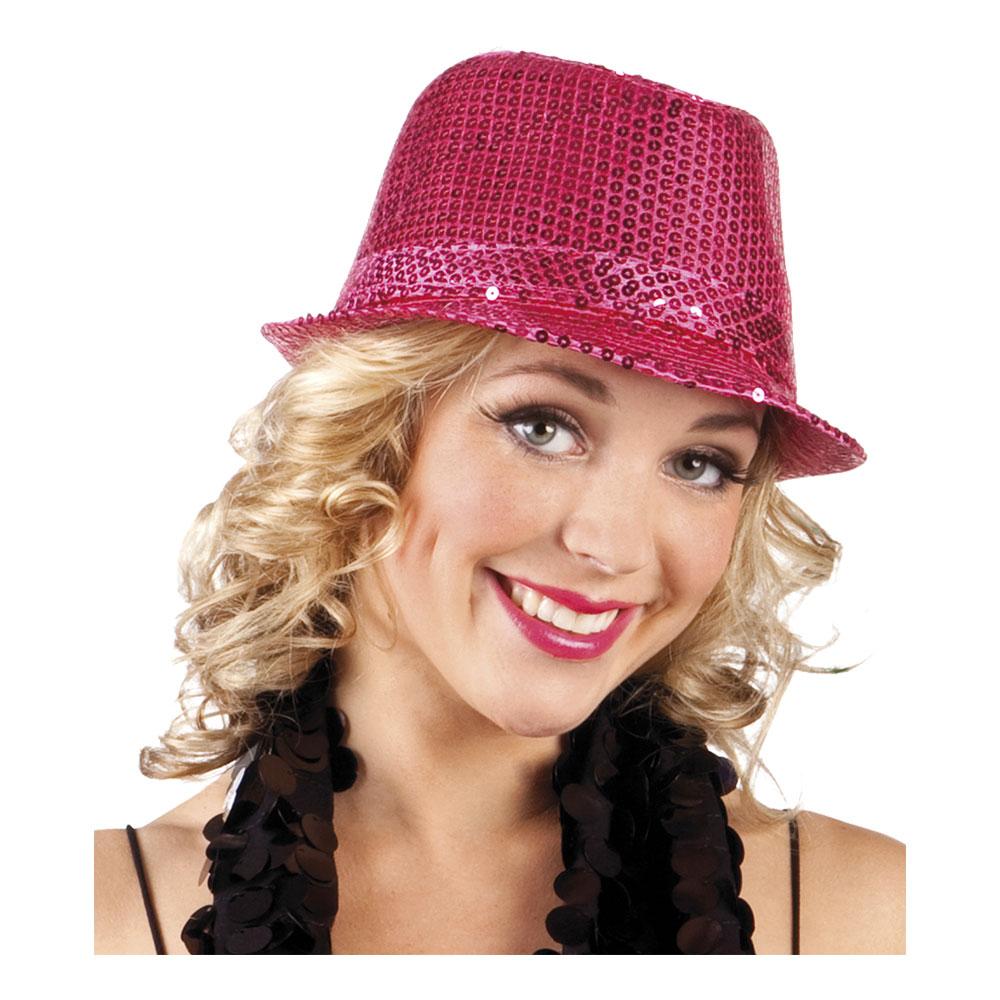 Minihatt med Rosett Deluxe - Röd Billigt 199 kr fa9f07923a7b4