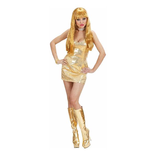 Paljettklänning Guld Maskeraddräkt - Small