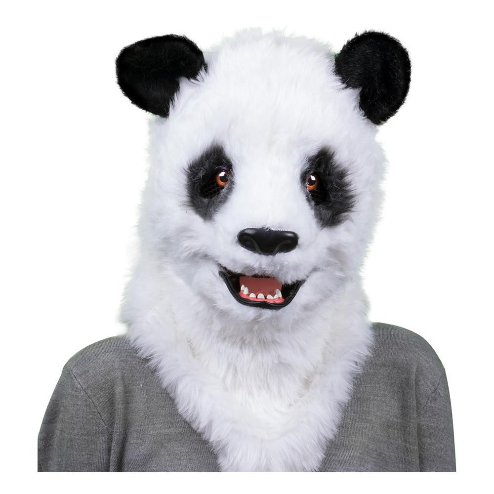Panda med Rörlig Mun Mask - One size