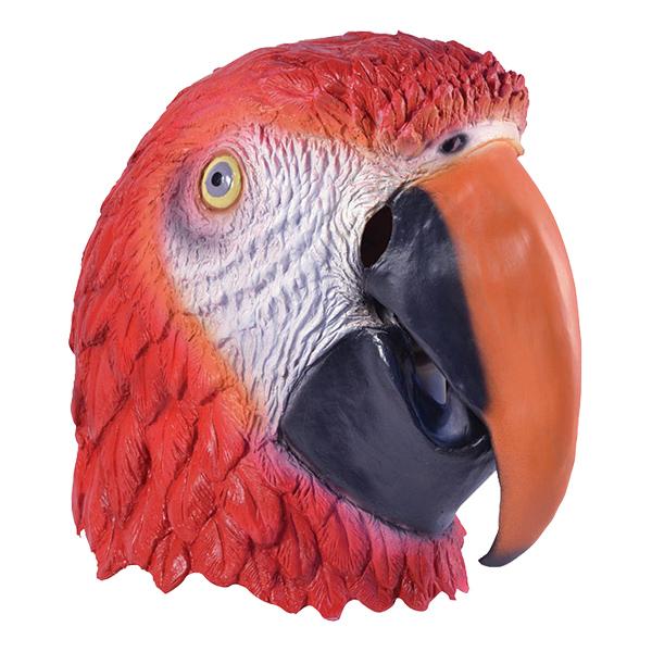 Papegojamask i Gummi - One size