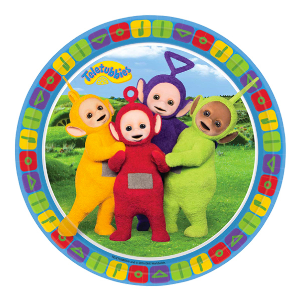 Pappersassietter Teletubbies - 8-pack