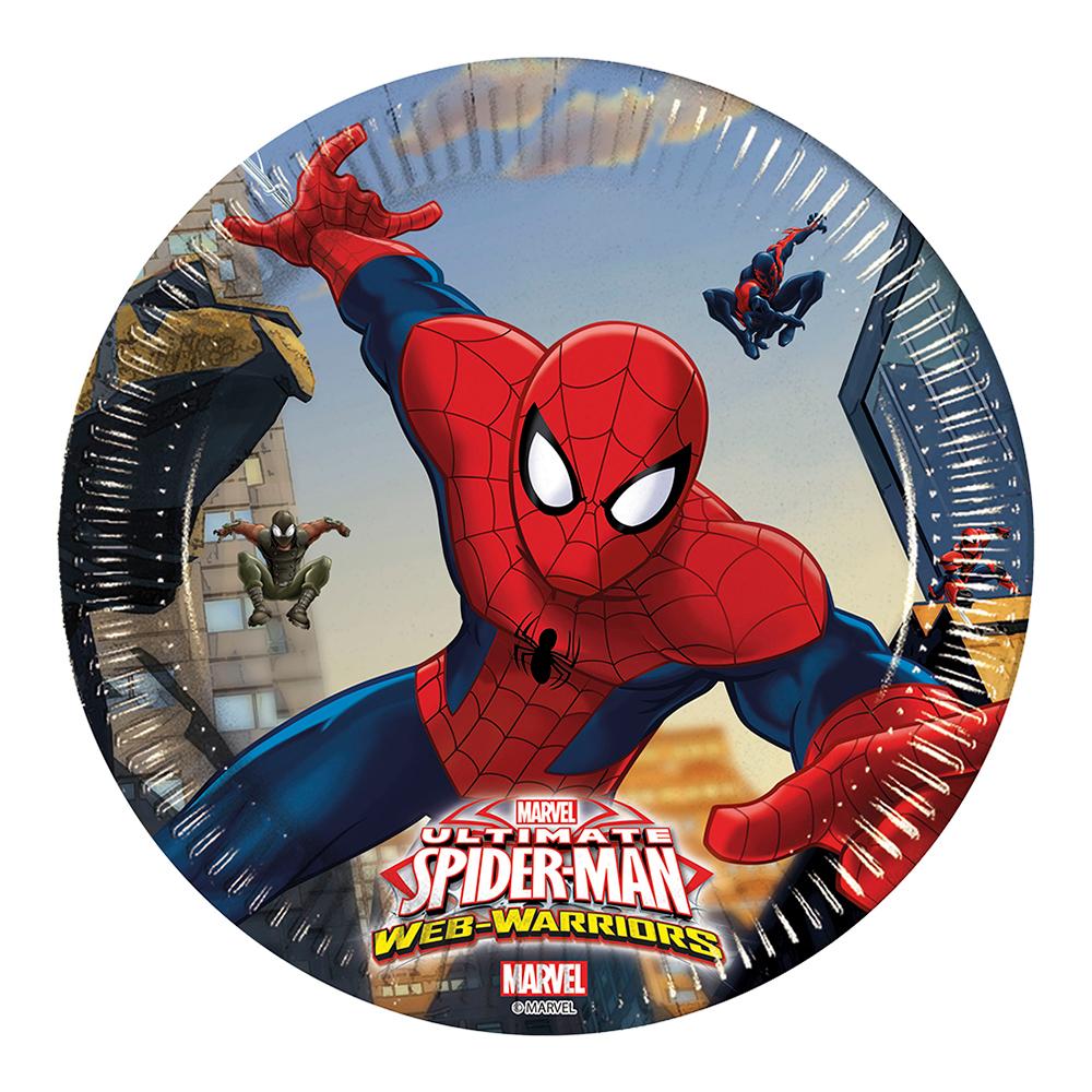 Pappersassietter Spiderman - 8-pack