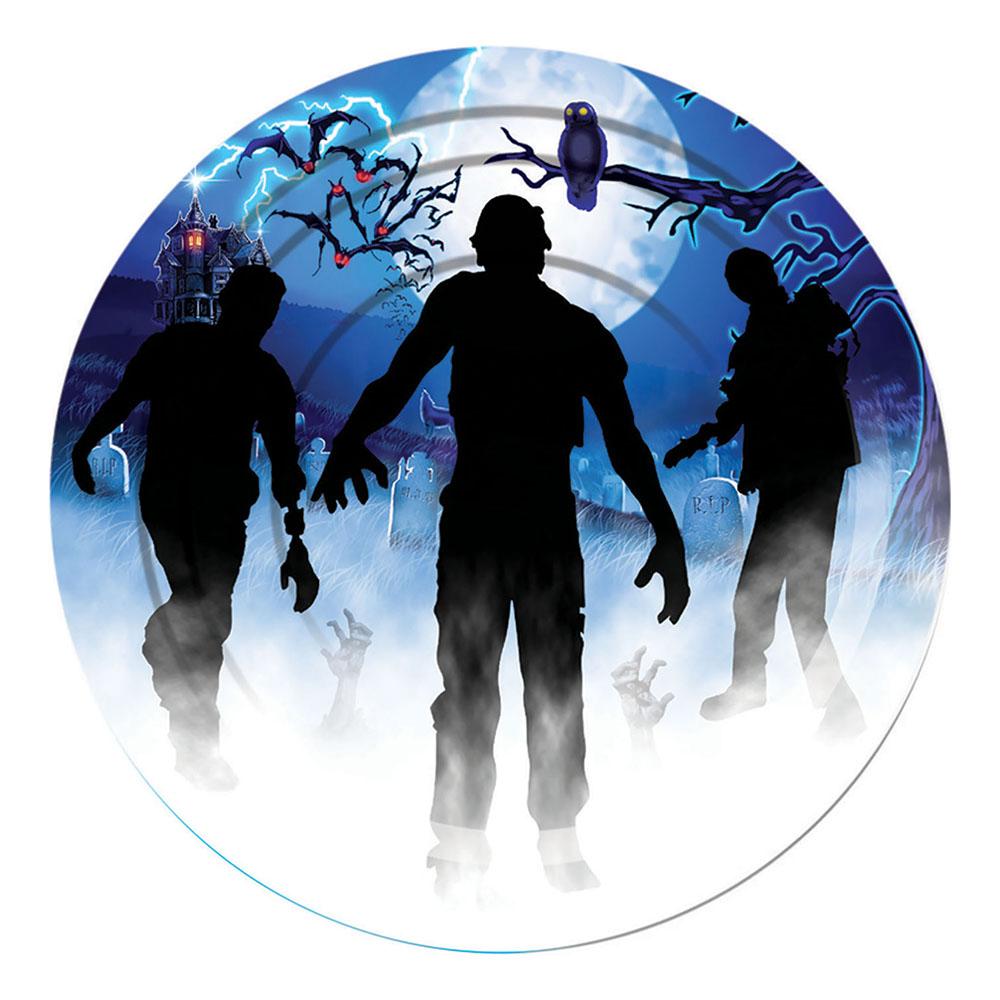 Papperstallrikar Zombie - 8-pack