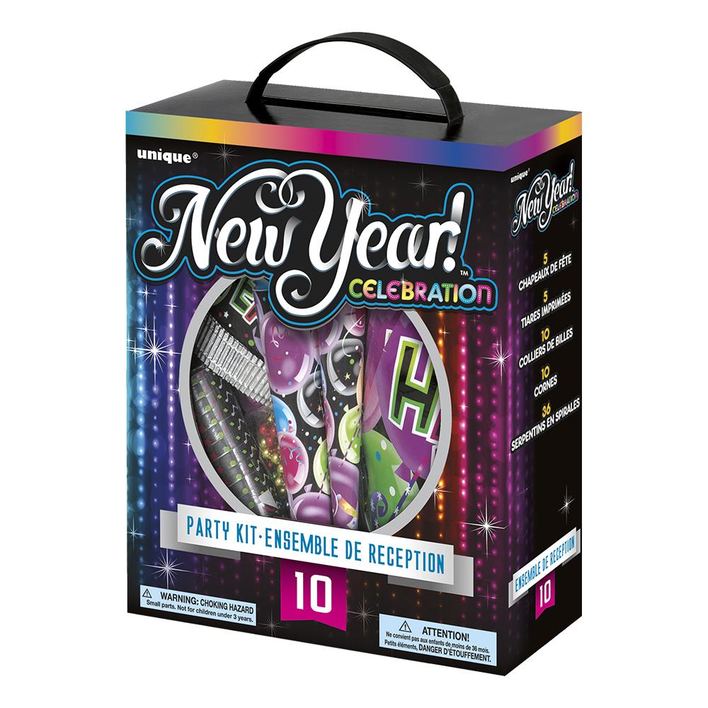 Partykit Nyår Celebration - För 10 personer