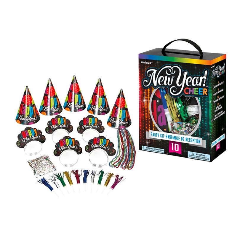 Partykit Nyår Cheer - För 10 personer