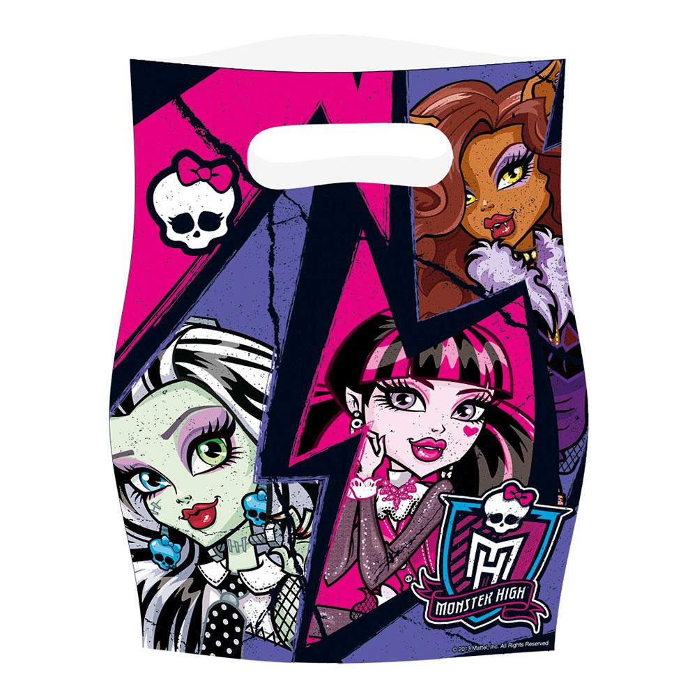 Partypåse Monster High 2 - 6-pack
