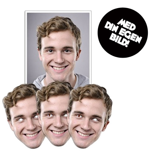 Personlig Pappmask - 5-pack