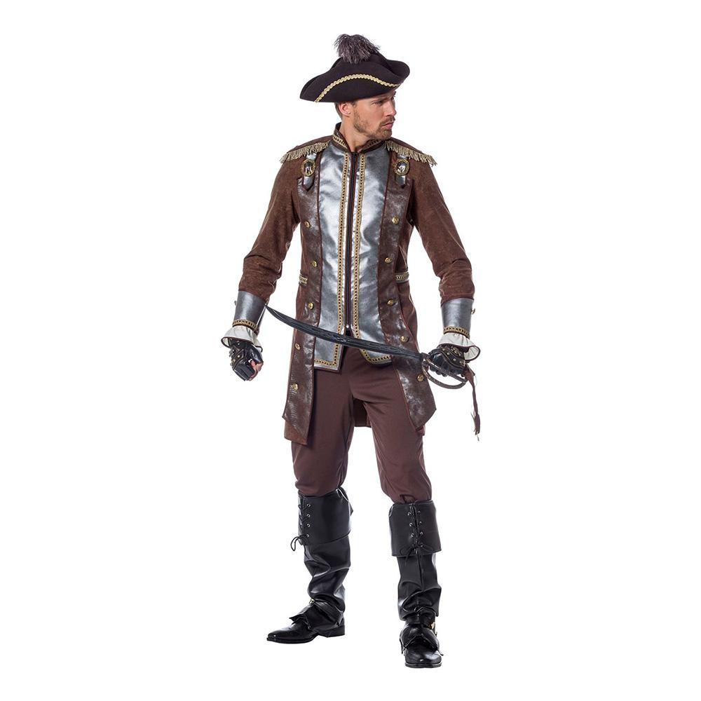 Pirat Deluxe Maskeraddräkt - Small