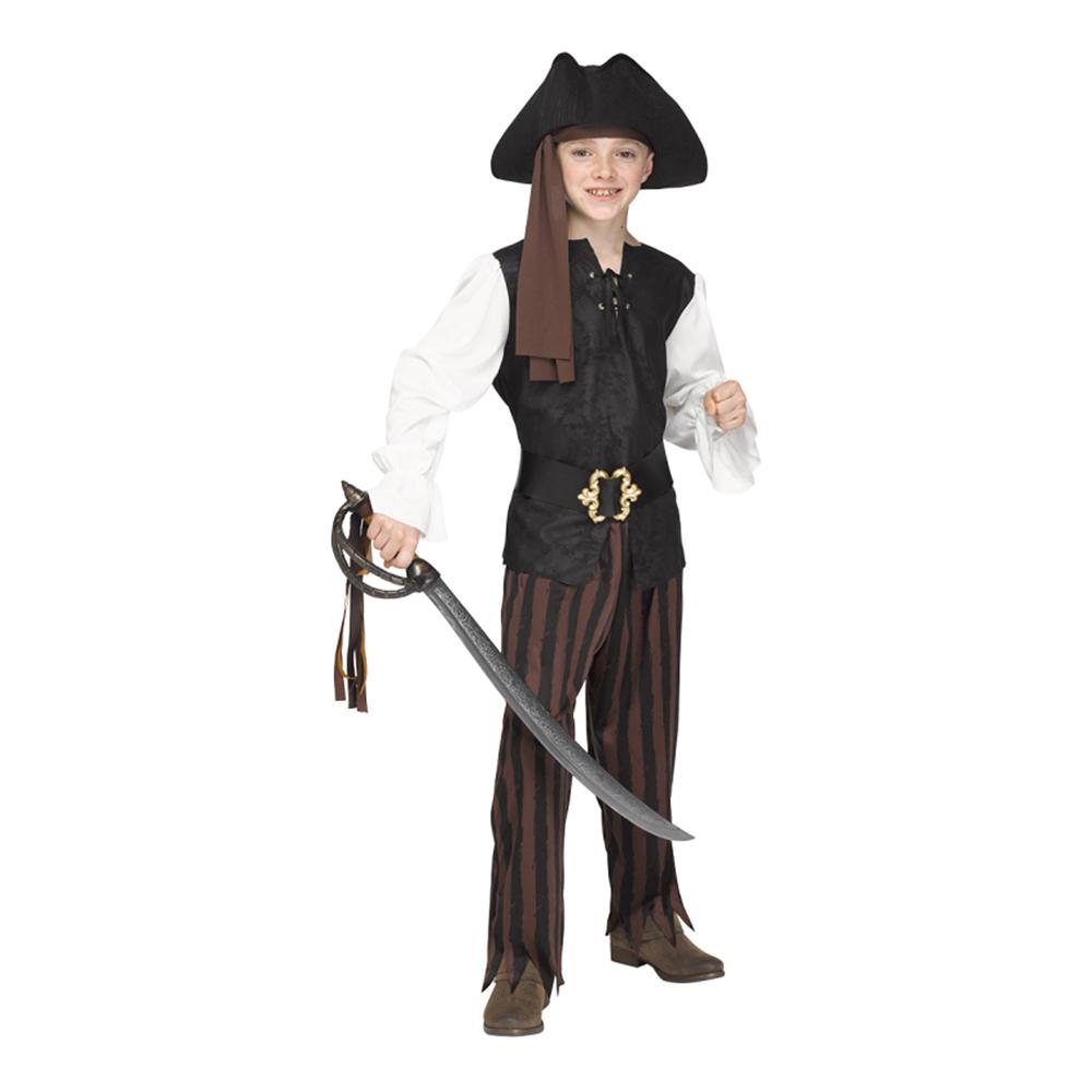 Pirat Rustik Barn Maskeraddräkt - Large
