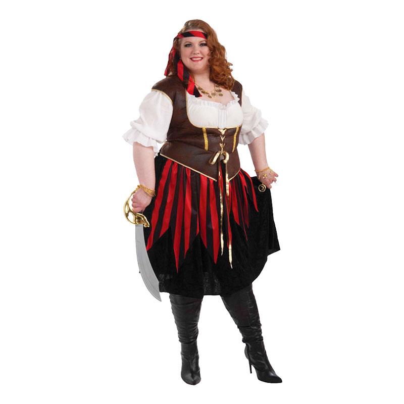 Piratdam Plus-size Maskeraddräkt - Plus size 676e5a184df6d
