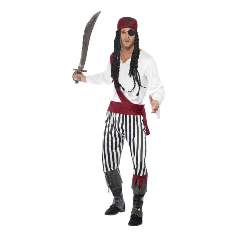 Piratman Maskeraddräkt - Medium
