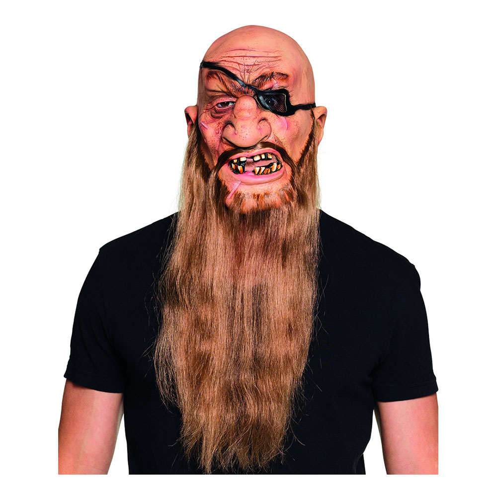 Piratmask med Skägg - One size