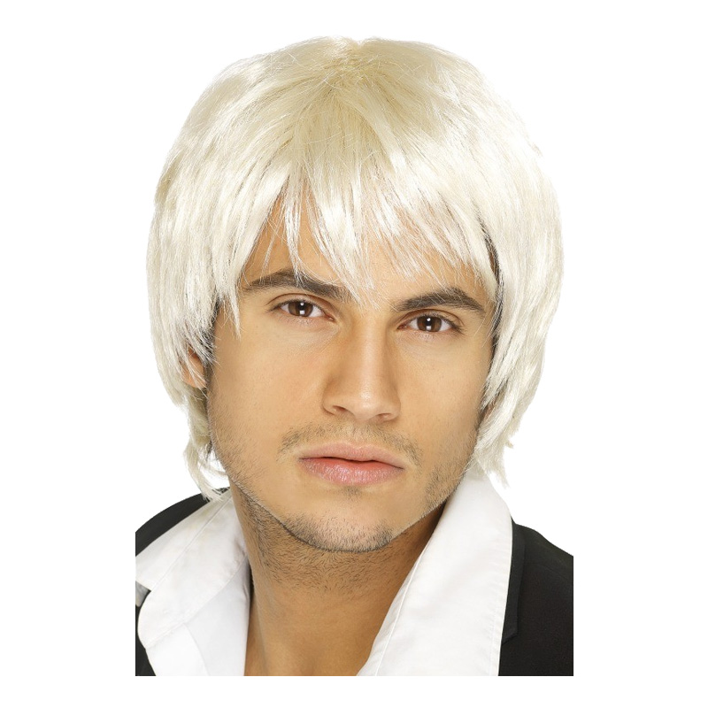 Pojkband Blond Peruk - One size