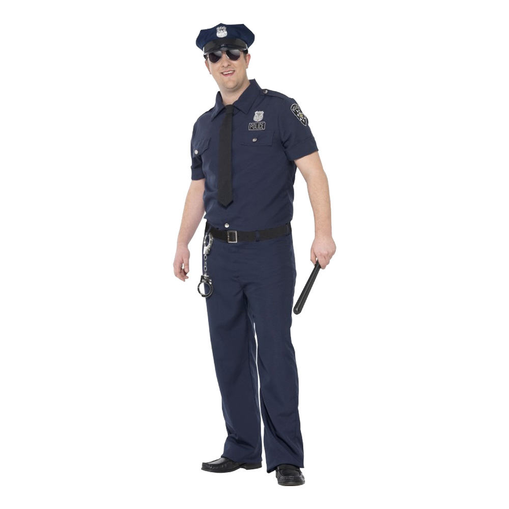 Polis New York Maskeraddräkt - Large