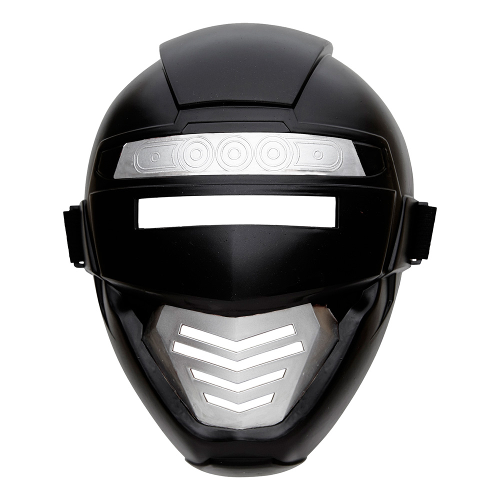 Power Rangers Svart Mask Barn - One size