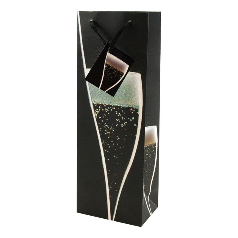 Presentpåse Glitter Champagne