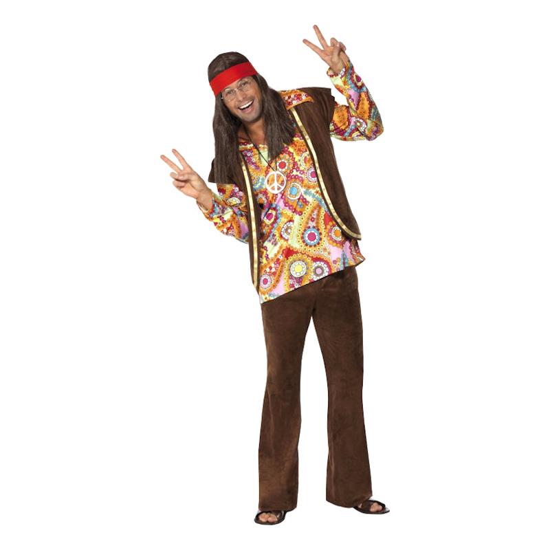 Psykadelisk 60-tals Hippie Maskeraddräkt - Medium
