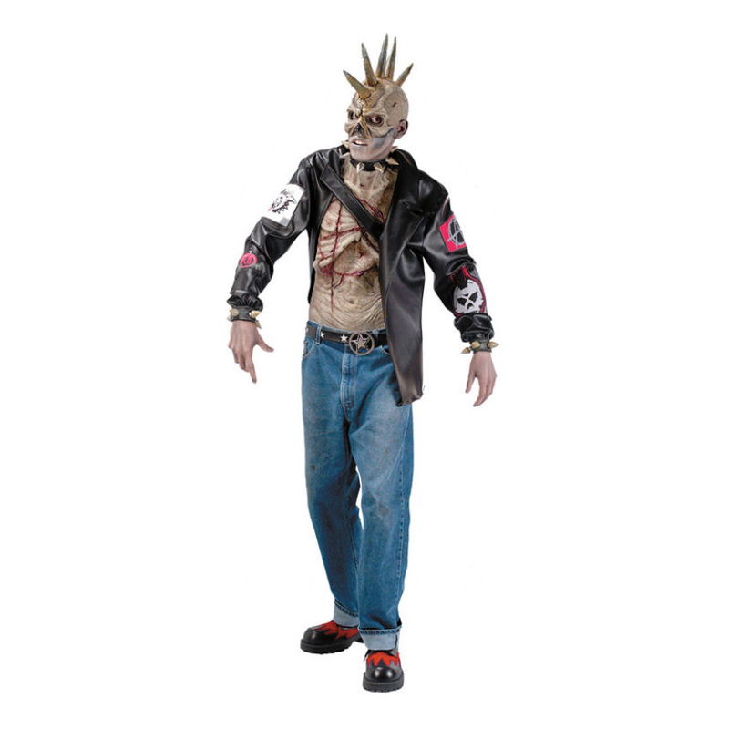 Zombie Punkare Maskeraddräkt - One size