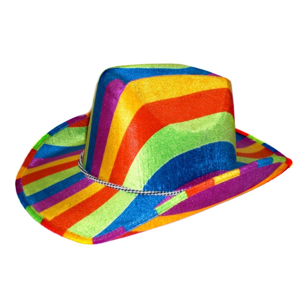 Regnbågsfärgad Cowboyhatt - One size