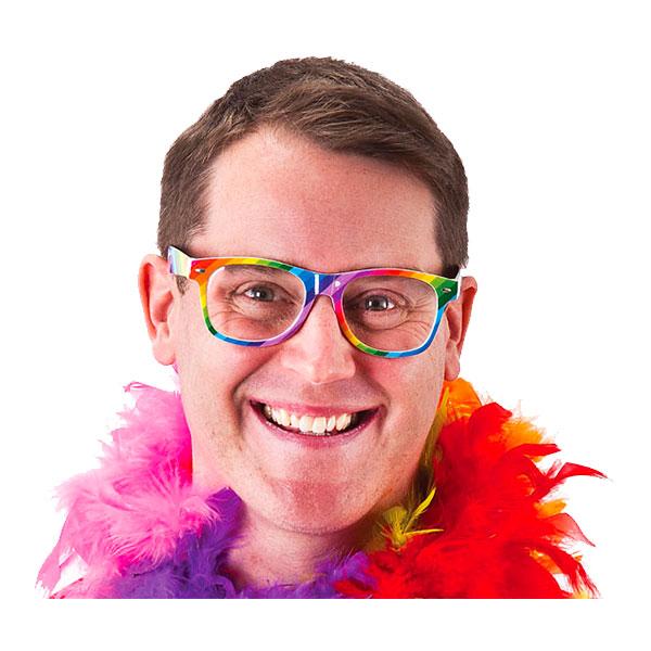 Regnbågsfärgade Glasögon