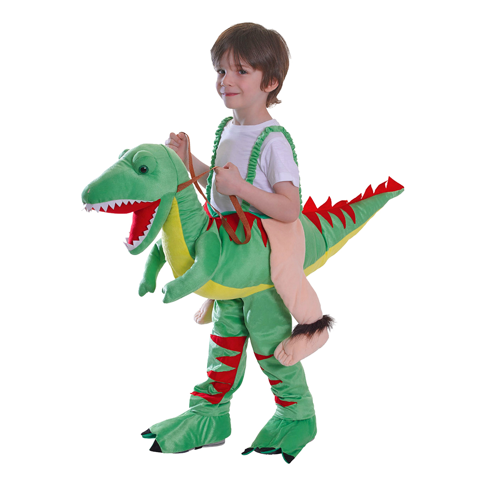 Ridande Dinosaurie Barn Maskeraddräkt - One size