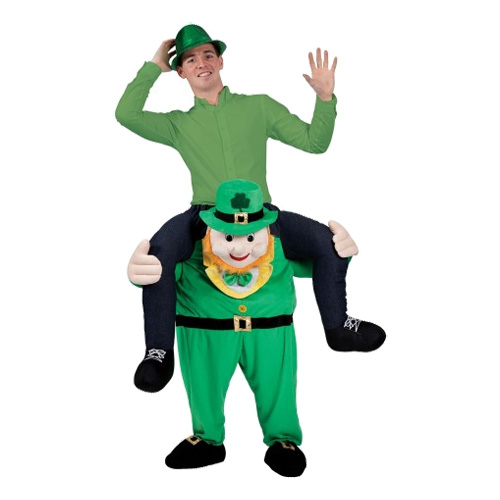 Carry Me Leprechaun Maskeraddräkt - One size