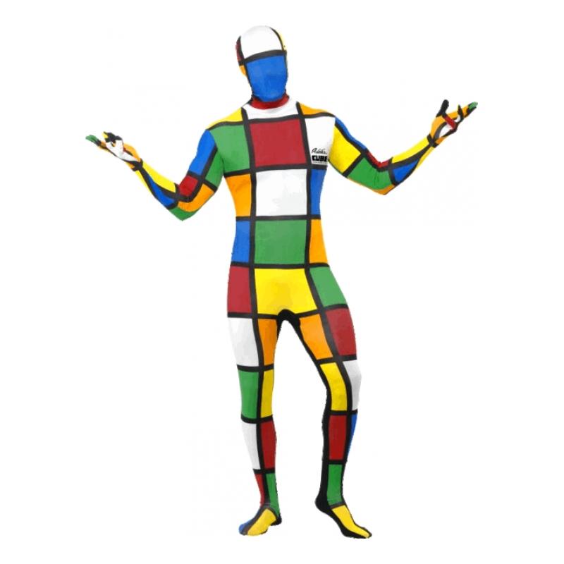 Second Skin Rubiks Kub Maskeraddräkt - Medium