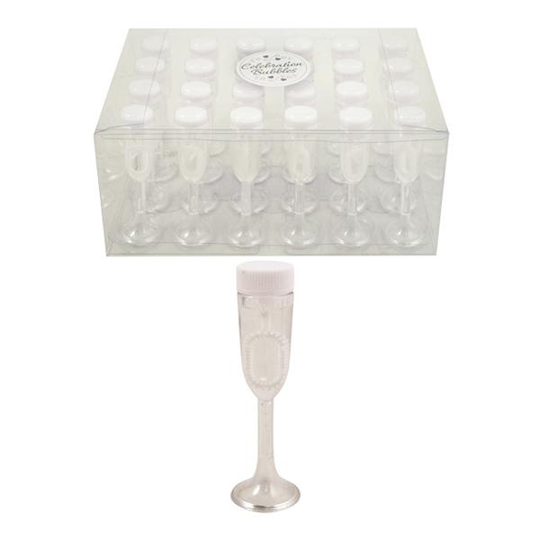 Såpbubblor Champagneglas - 24-pack