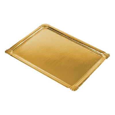 Serveringsfat Papp Rektangulär Guld - 5-pack