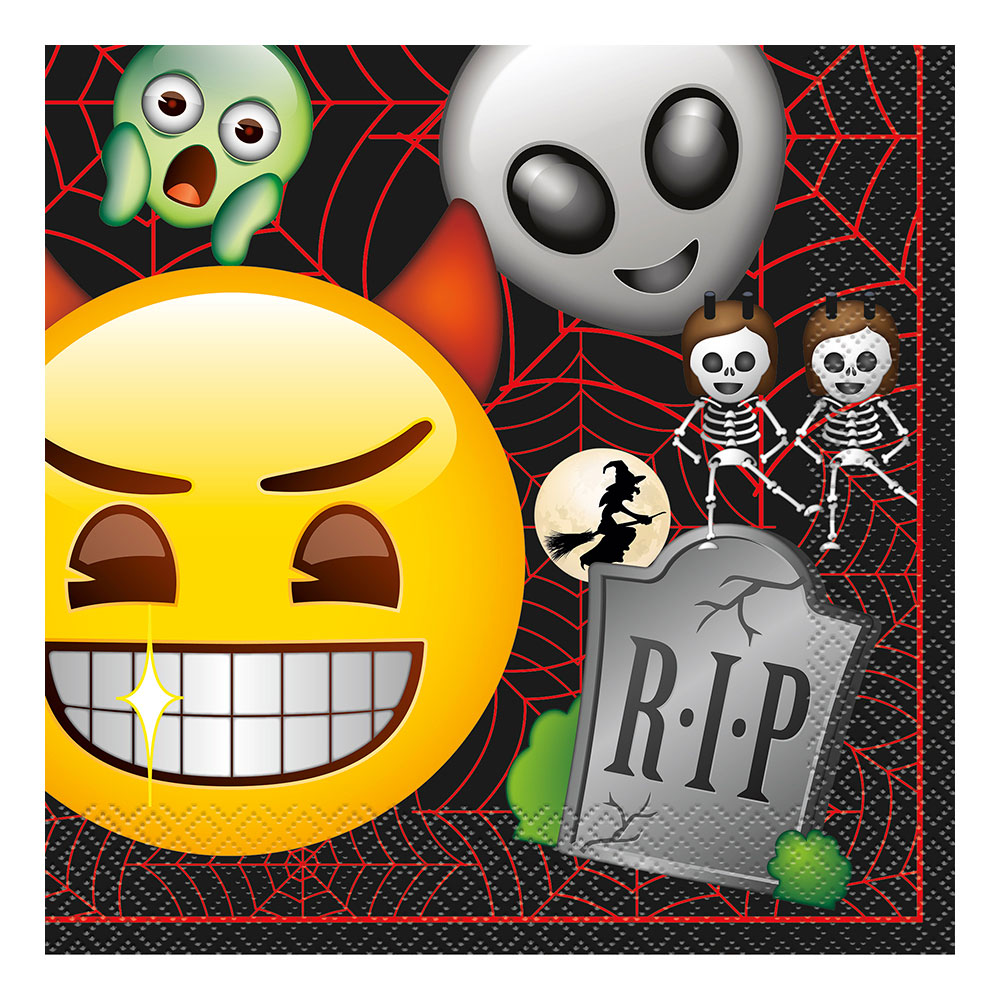 Servetter Emoji Halloween - 16-pack