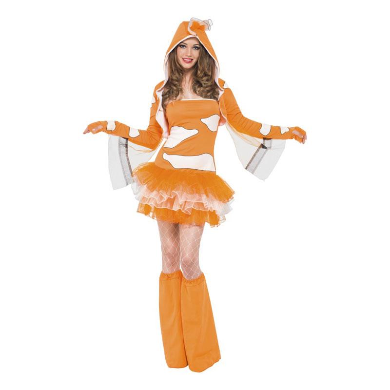 Maskeradkläder Vuxna - Clownfishklänning  - X-Small