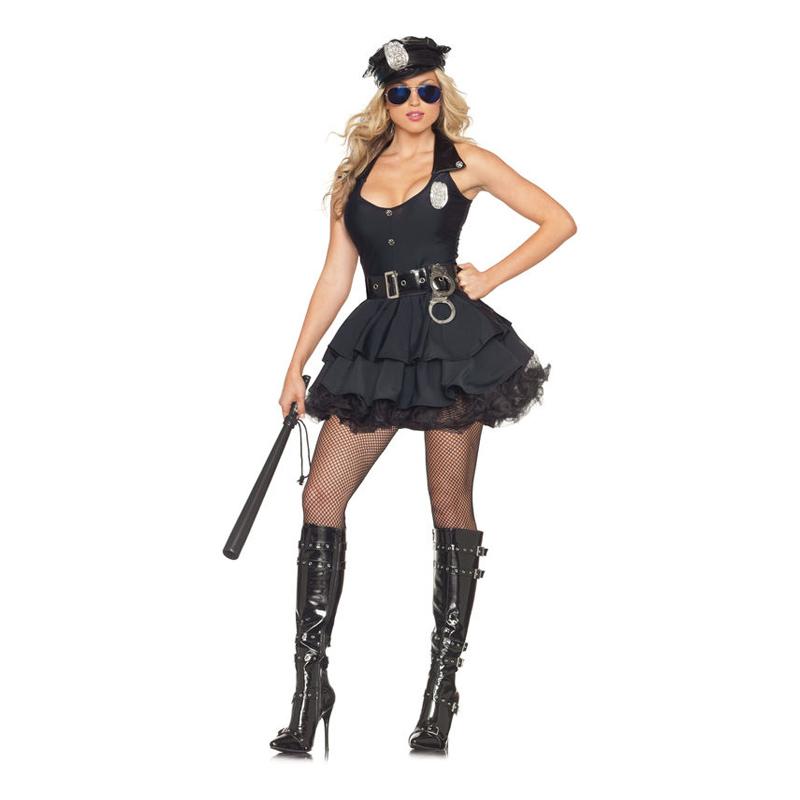 Polisklänning Maskeraddräkt - Medium