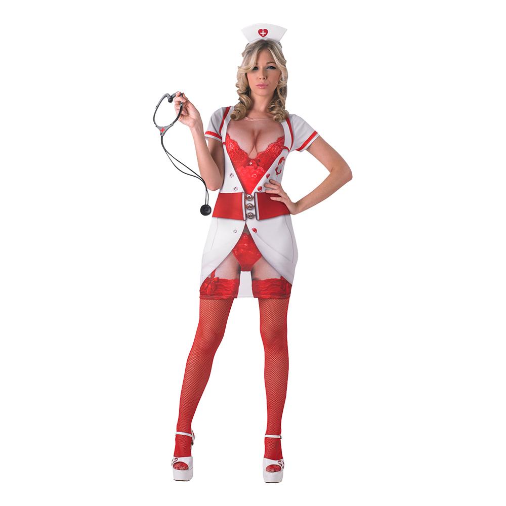 Söt Sjuksköterska Real Appeal Maskeraddräkt - X-Small