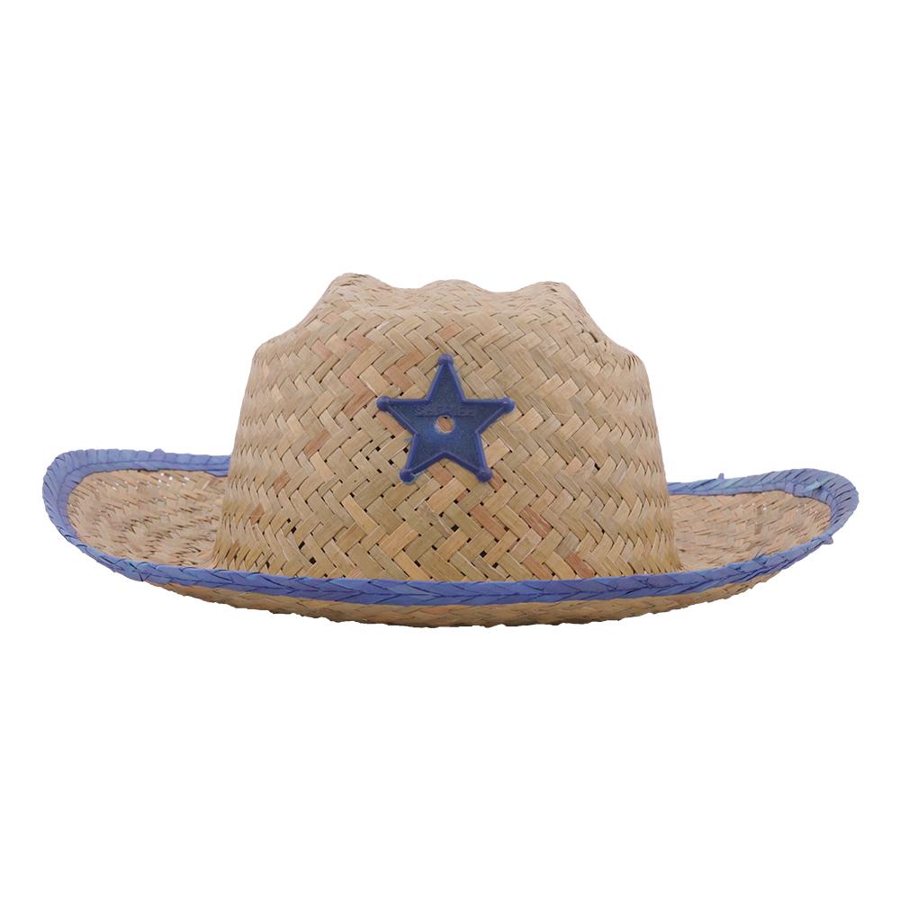 Sheriffhatt med Stjärna Barn - Blå