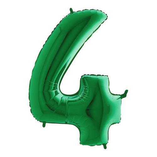Sifferballong Grön Metallic - Siffra 4