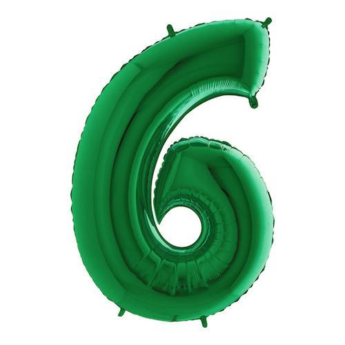 Sifferballong Grön Metallic - Siffra 6