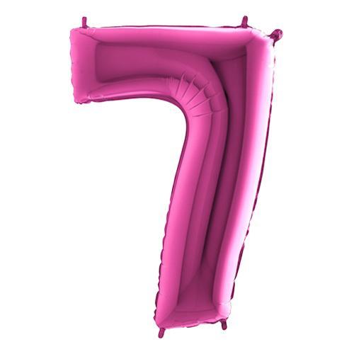 Sifferballong Rosa Metallic - Siffra 7