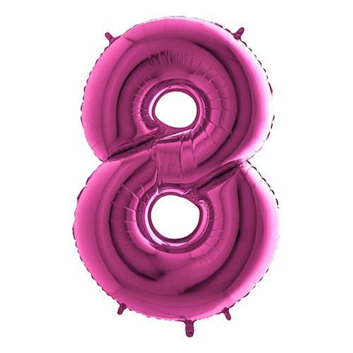 Sifferballong Rosa Metallic - Siffra 8