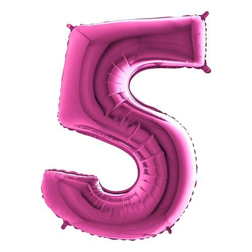 Sifferballong Rosa Metallic - Siffra 5