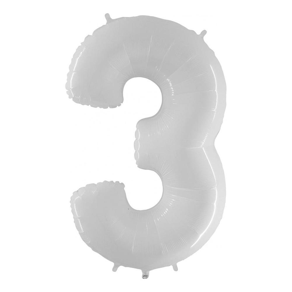 Sifferballong Vit - Siffra 3