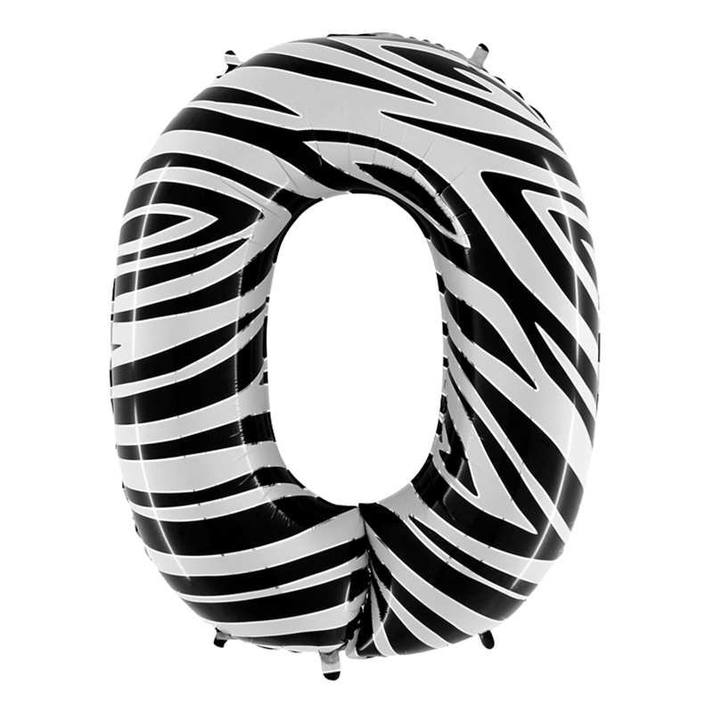 Sifferballong Zebra - Siffra 0