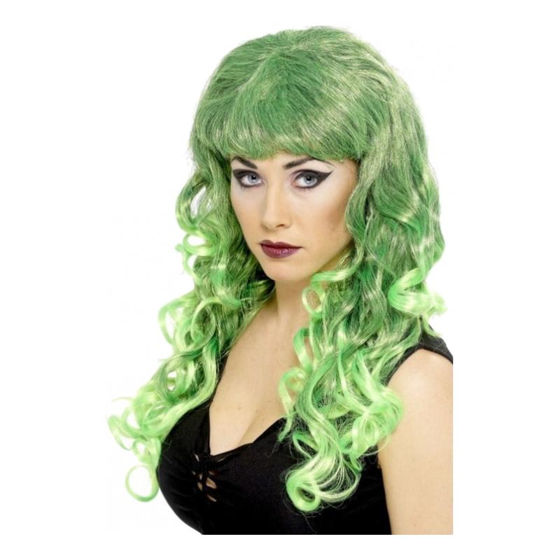 Siren Grön Peruk - One size