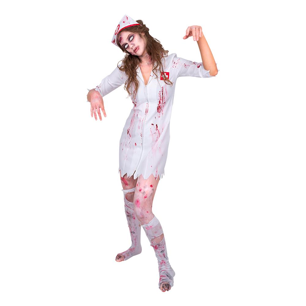 Sjuksköterska Zombie Maskeraddräkt - Small billigt online ... b20d846c11759