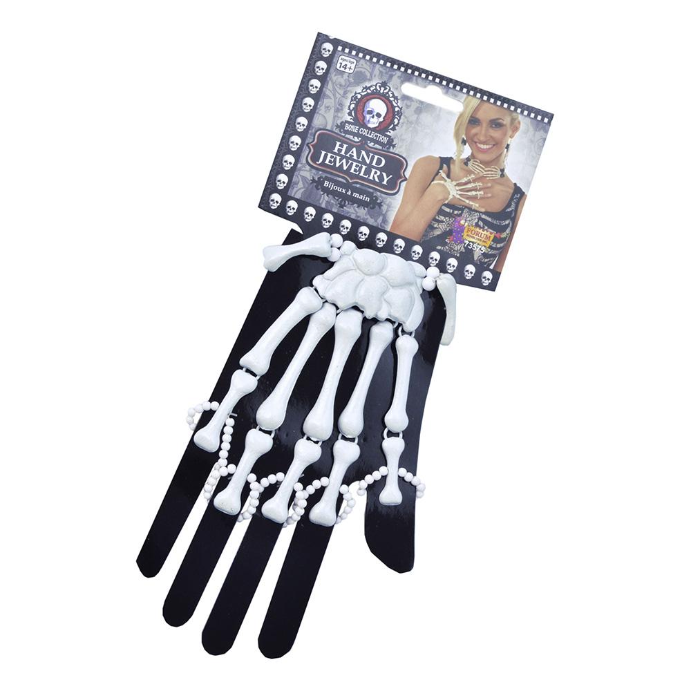 Skelett Handsmycke Vitt - 1-pack