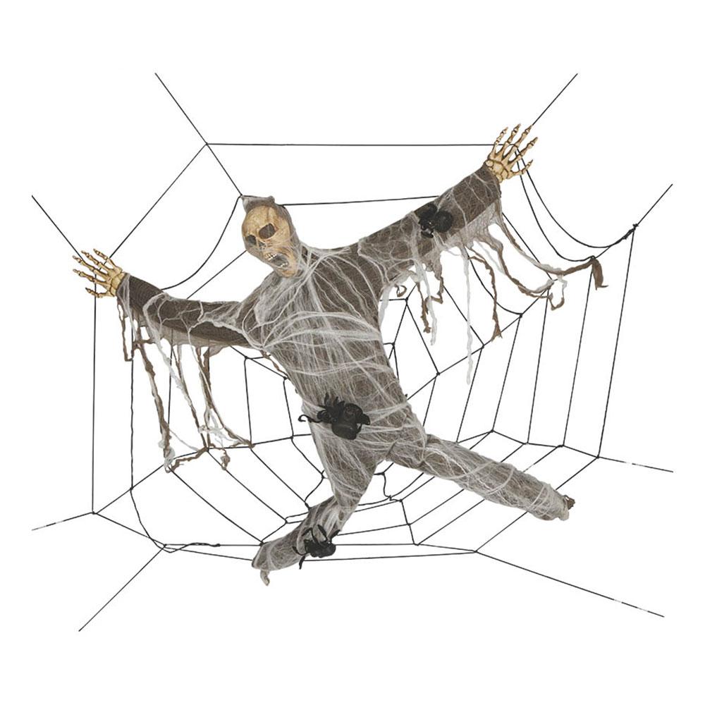 Skelett i Spindelnät Gigantisk Prop