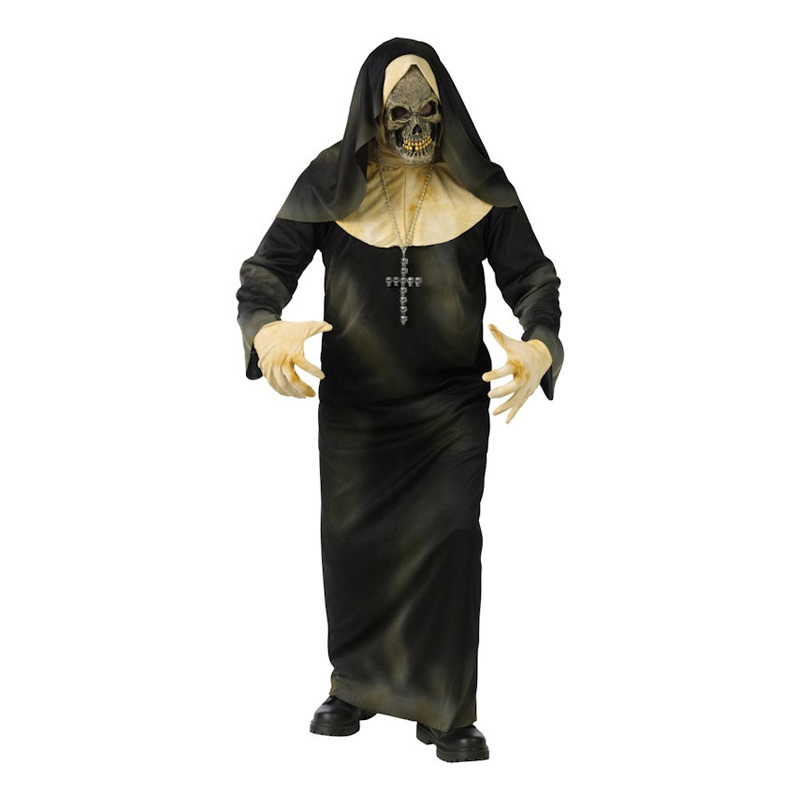 Skelett Nunna Maskeraddräkt - One size