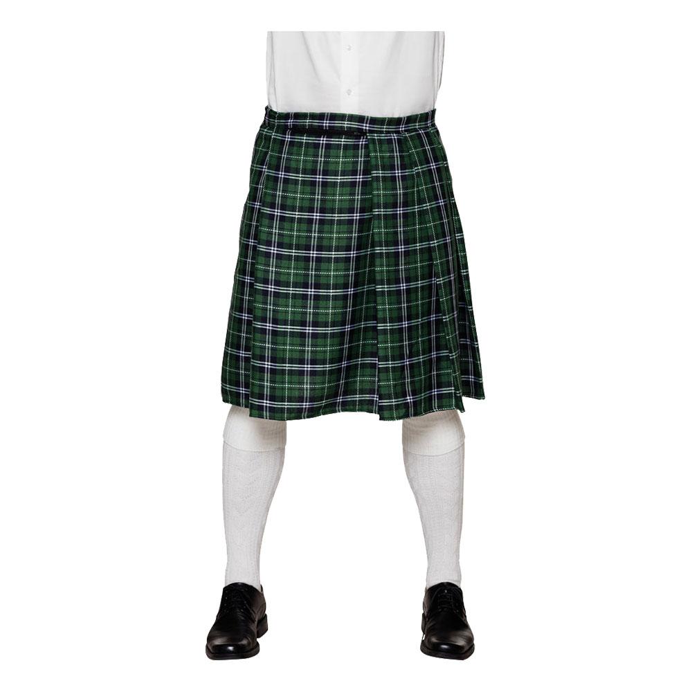 Skotskrutig Kilt Grön Herr - One size